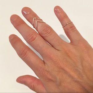 Rose gold midi rings